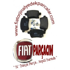 ARKA FREN DISK BALATA TAKIM , FIAT EGEA 1.6 MULTIJET STATION WAGON , ORJINAL FIAT YEDEK PARCA , 77367914